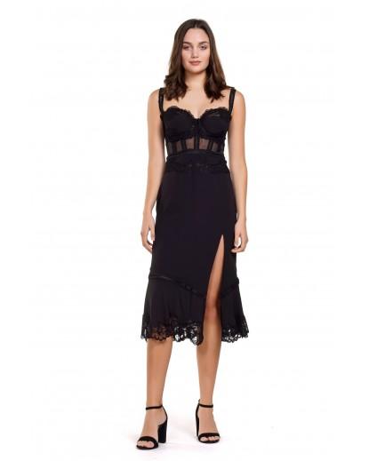 φόρεμα μίντι με ενσωματωμένο σουτιέν.