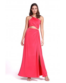 μάξι ζέρσευ φόρεμα ένας ώμος