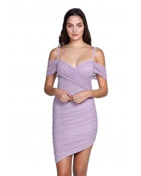 μίνι ασύμετρο φόρεμα τούλι