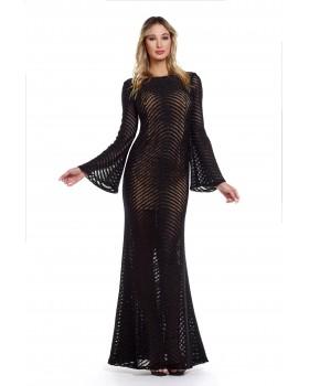MAXI LACE WAVES DRESS