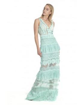 φόρεμα μάξι διάφορες δαντέλες ,έξτρα σουτιέν.