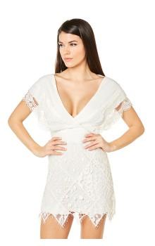 Midi crepe dress